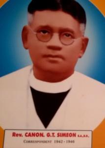 Rev. Canon G.T. Simeon
